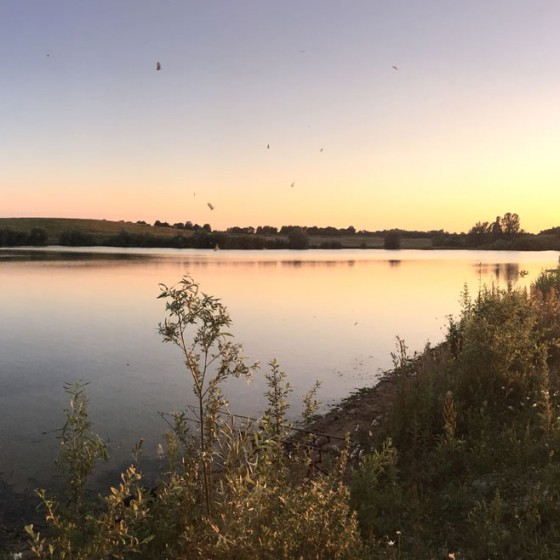 A stunning sunset at St Genevieve's Lake